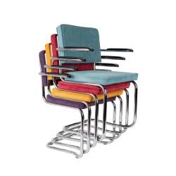 Zuiver - Ridge Kink Rib Stuhl mit Armlehne
