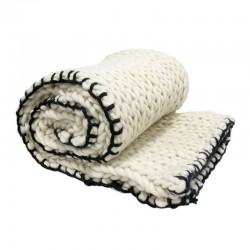 HK Living - Bettdecke aus Strickwolle