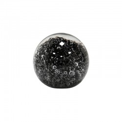 HK Living - Glasskulpturen schwarze Kugeln