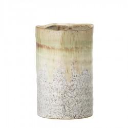 Bloomingville - Grüne Steingut Vase