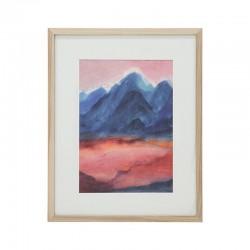 HK Living - Winziger Kunstrahmen L: Sonnenuntergang