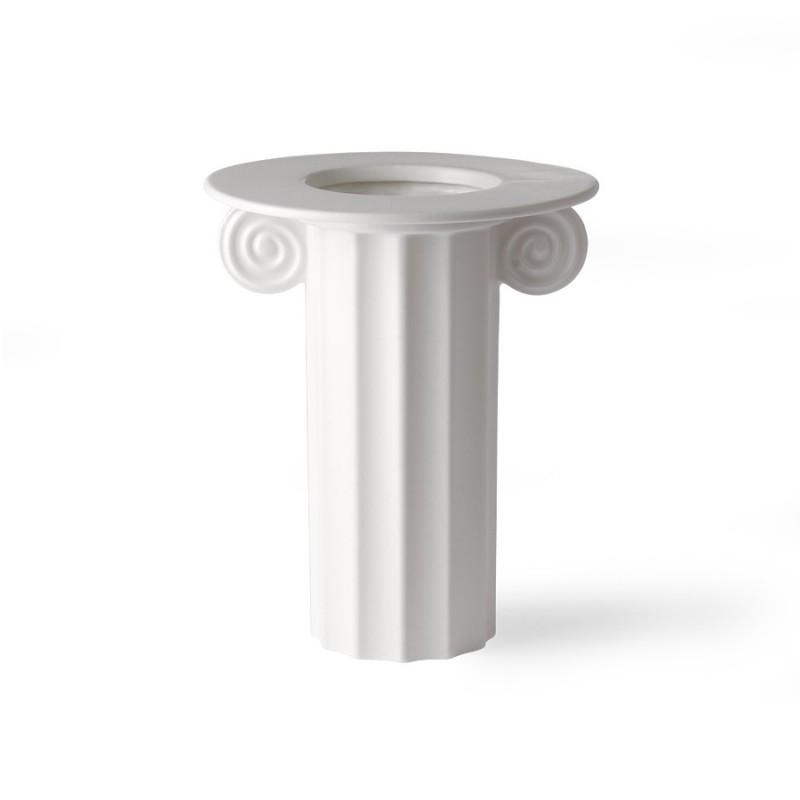HK living - Weiße Keramikvase griechisch B