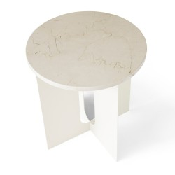 Marmorplatte für Androgyne Beistelltisch