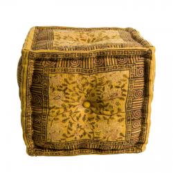 Indian Block Pouf