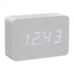 Brick Click Clock Aluminium